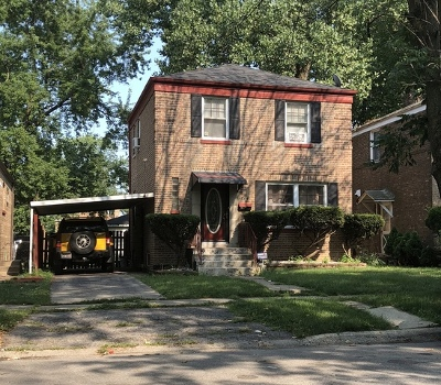 Riverdale Single Family Home For Sale: 14525 South Michigan Avenue