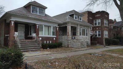 Chicago Single Family Home New: 6948 South Indiana Avenue