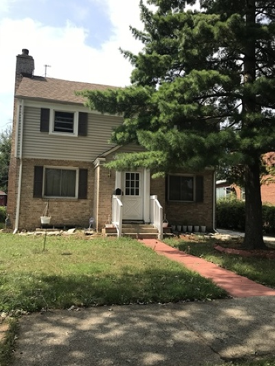 Single Family Home For Sale: 14422 South Wallace Avenue