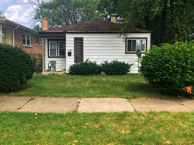 Calumet Park Single Family Home For Sale: 12509 South Bishop Street