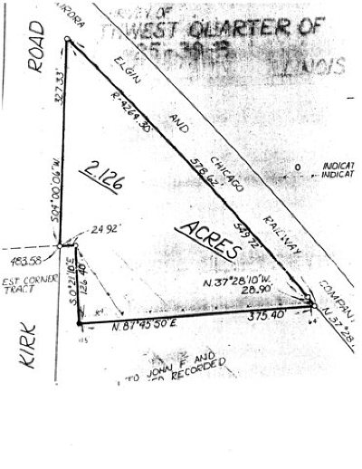 Kane County Residential Lots & Land For Sale: Prarpath Kirk Road