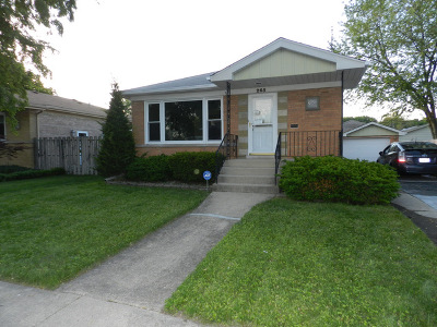 South Chicago Heights Single Family Home For Sale: 265 Park Terrace