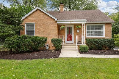 Palatine Single Family Home Price Change: 117 East Slade Street