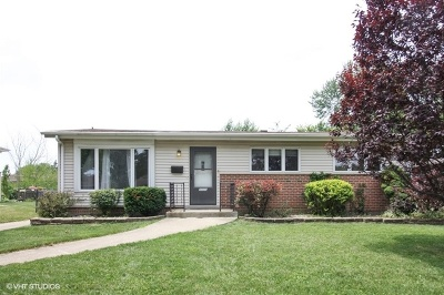 Bensenville Single Family Home Price Change: 1026 Daniel Drive