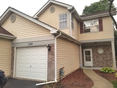 Schaumburg Condo/Townhouse Re-Activated: 1109 Regency Court