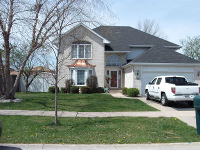 Tinley Park Single Family Home For Sale: 16922 Marilyn Drive