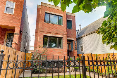 Chicago Single Family Home For Sale: 2442 West Homer Street