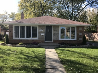 South Holland Single Family Home For Sale: 16008 Ellis Avenue