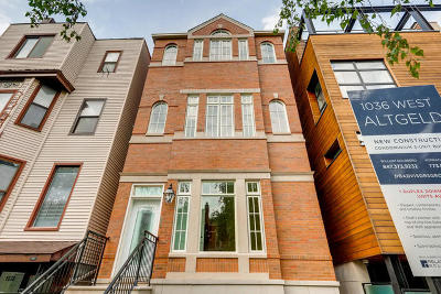 Condo/Townhouse For Sale: 1036 West Altgeld Street #2