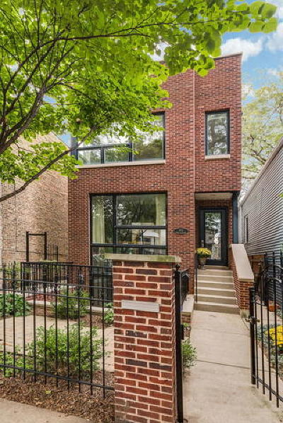 Chicago Single Family Home New: 1912 West Wellington Avenue