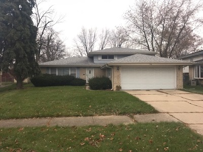 South Holland IL Single Family Home New: $115,000