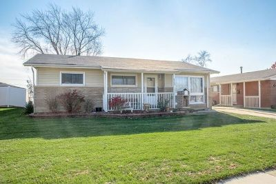 Tinley Park Single Family Home For Sale: 6709 165th Street