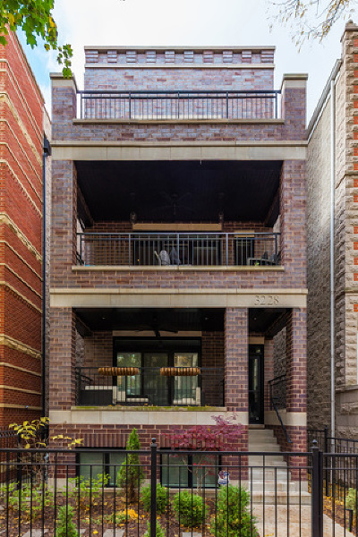 Chicago Condo/Townhouse New: 3228 North Seminary Avenue #2