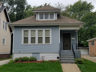 Chicago Single Family Home New: 12104 South Yale Avenue