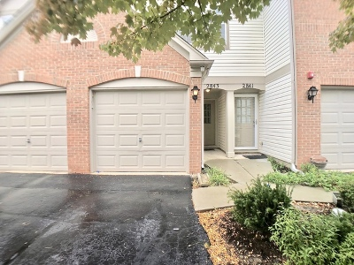 Naperville Condo/Townhouse For Sale: 2843 Stonewater Drive #2843