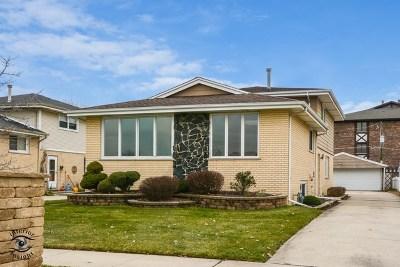 Oak Lawn Single Family Home Price Change: 5633 West 102nd Street
