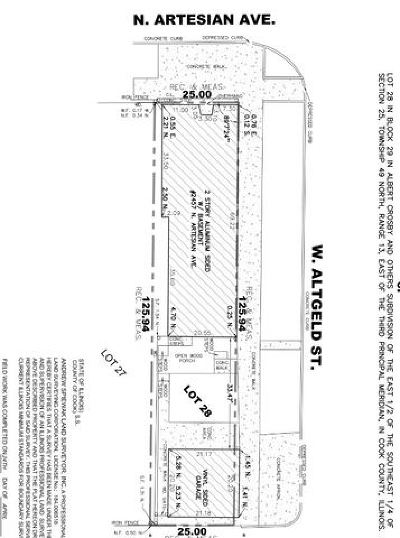 Chicago Residential Lots & Land For Sale: 2457 North Artesian Avenue