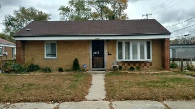 Calumet Park Single Family Home For Sale: 12637 South Ada Street