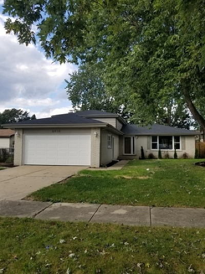 Tinley Park Single Family Home For Sale: 6430 180th Place