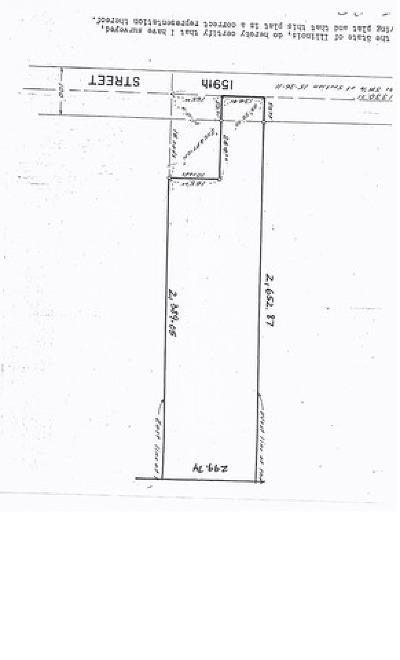 Homer Glen Residential Lots & Land For Sale: 14026 West 159th Street