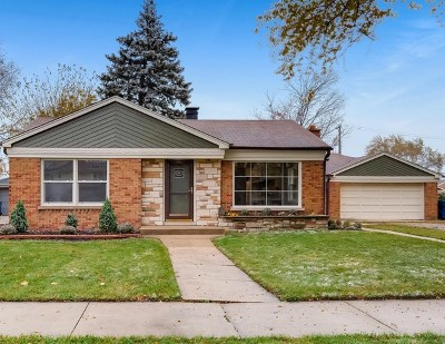 Evergreen Park Single Family Home For Sale: 9125 South Avers Avenue