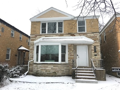 Chicago Single Family Home For Sale: 6319 North Lawndale Avenue