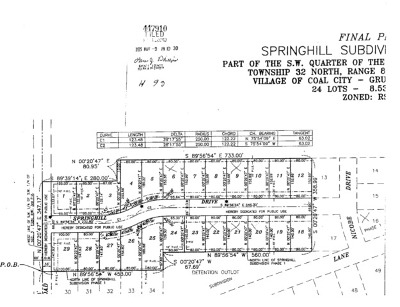 Coal City Residential Lots & Land New: 22 Springhill Drive