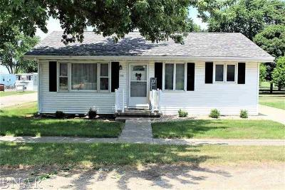 Wapella IL Single Family Home For Sale: $72,500