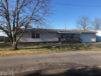 Wapella IL Single Family Home For Sale: $79,900