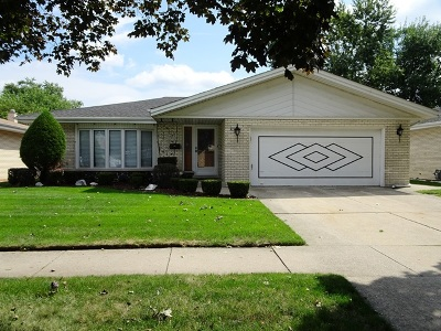 Oak Lawn Single Family Home New: 9821 South Kenneth Avenue