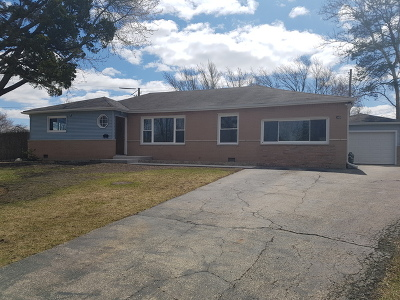 Hoffman Estates Single Family Home Price Change: 315 Glendale Lane