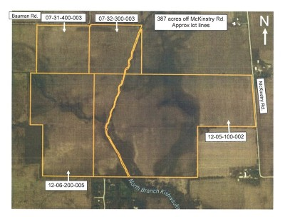 Residential Lots & Land New: 387 Acres Off McKinstry Road