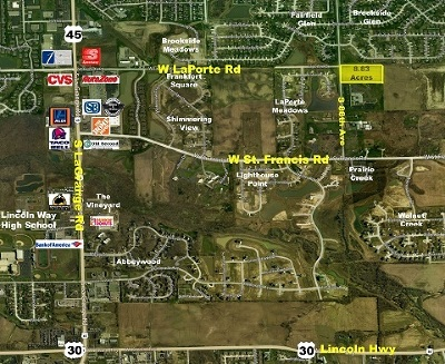 Frankfort Residential Lots & Land For Sale: South 88th Ave & Laporte Road
