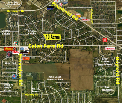 Joliet Residential Lots & Land For Sale: Chevy Chase Drive & Caton Farm Road