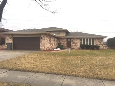 Orland Park Single Family Home For Sale: 8035 Anne Drive