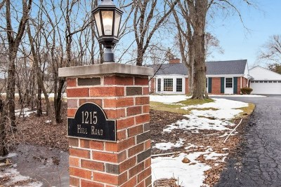 Winnetka Single Family Home For Sale: 1215 Hill Road