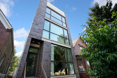 Chicago Condo/Townhouse New: 827 North Rockwell Street #1
