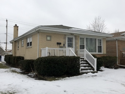 Alsip Single Family Home For Sale: 3801 West 115th Street