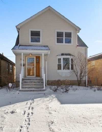 Chicago Single Family Home New: 3761 North Odell Avenue
