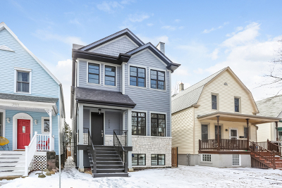 Chicago Single Family Home New: 2313 West Farragut Avenue