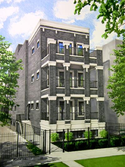Condo/Townhouse For Sale: 2422 North Racine Avenue #3
