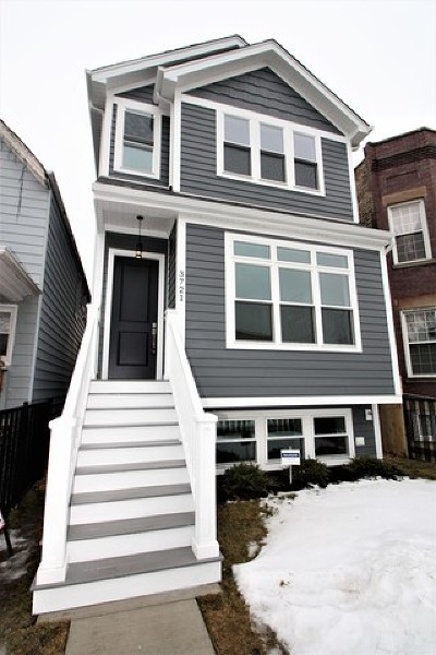 Chicago Single Family Home New: 3721 West Wabansia Avenue