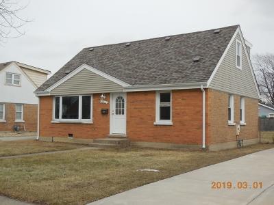 Chicago Ridge Single Family Home Price Change: 10943 McVicker Avenue