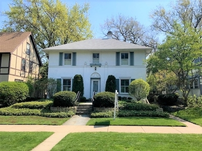 Evanston Single Family Home For Sale: 806 Clinton Place