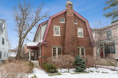 Wilmette Single Family Home For Sale: 1004 Greenleaf Avenue