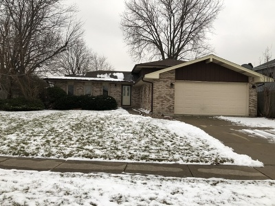 Tinley Park Single Family Home For Sale: 6935 Brementowne Road