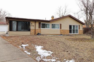 Hoffman Estates Single Family Home For Sale: 270 Washington Boulevard