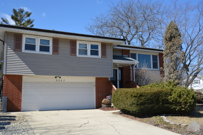 Tinley Park Single Family Home For Sale: 6607 163rd Place