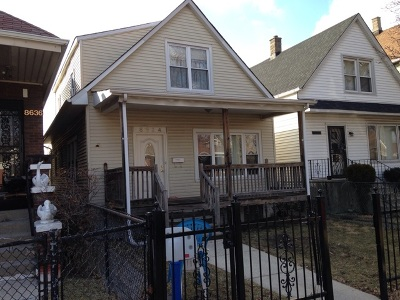 Chicago Single Family Home New: 8634 South Aberdeen Street