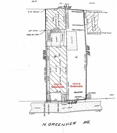 Chicago Residential Lots & Land New: 1314 North Greenview Avenue